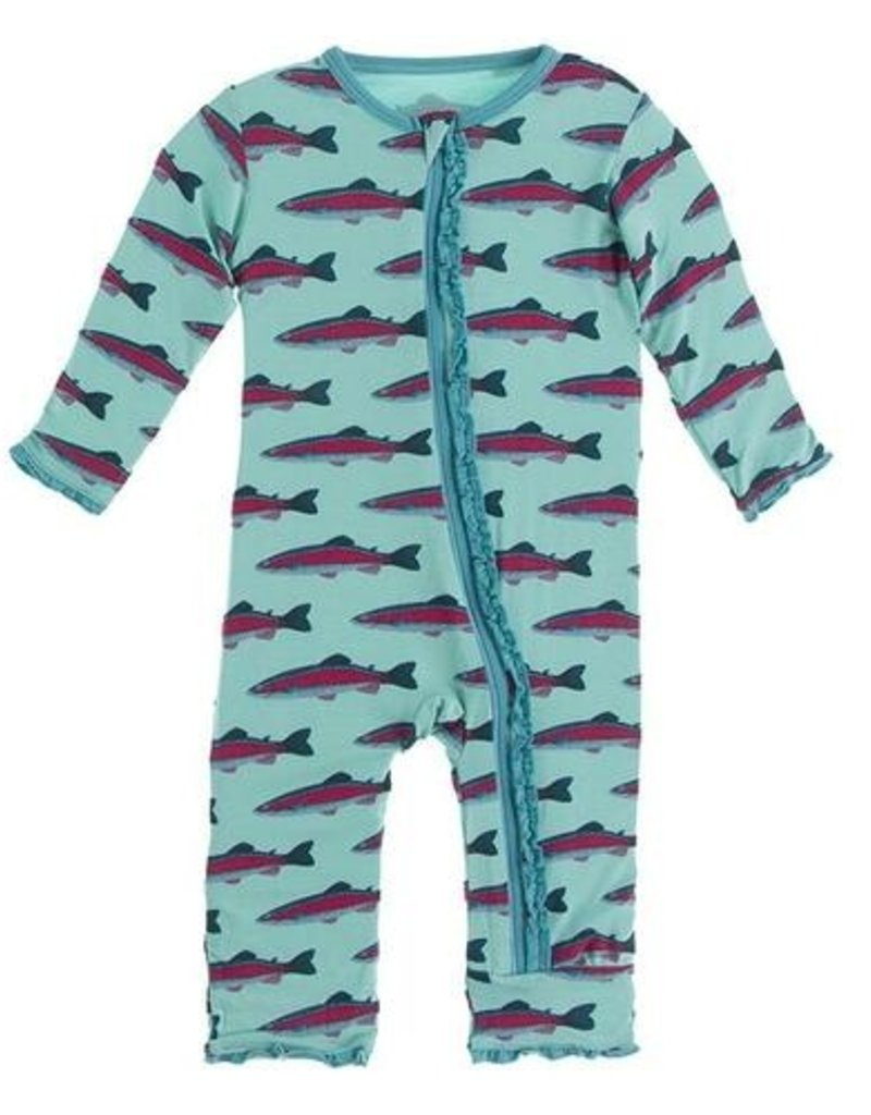 kickee pants glass rainbow trout muffin ruffle coverall