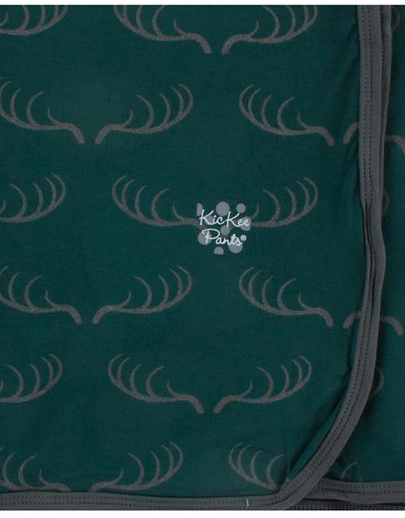 kickee pants pine deer rack swaddling blanket