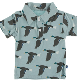 kickee pants jade mallard duck short sleeve woven shirt
