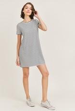 french terry striped tshirt dress