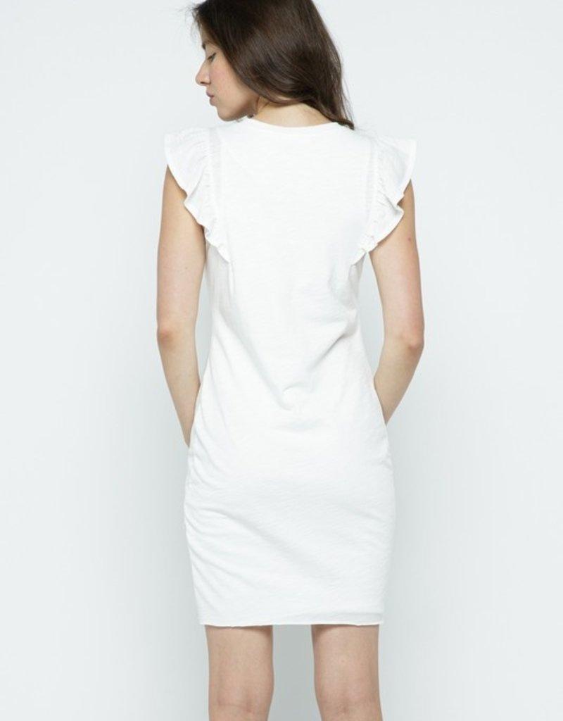 kimi ruffle sleeve dress