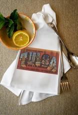 lantern press greetings from tulsa towel
