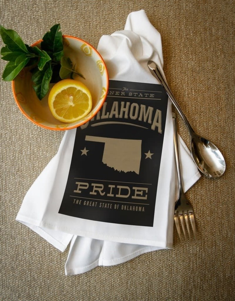 lantern press oklahoma pride towel