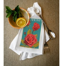 lantern press oklahoma rose towel