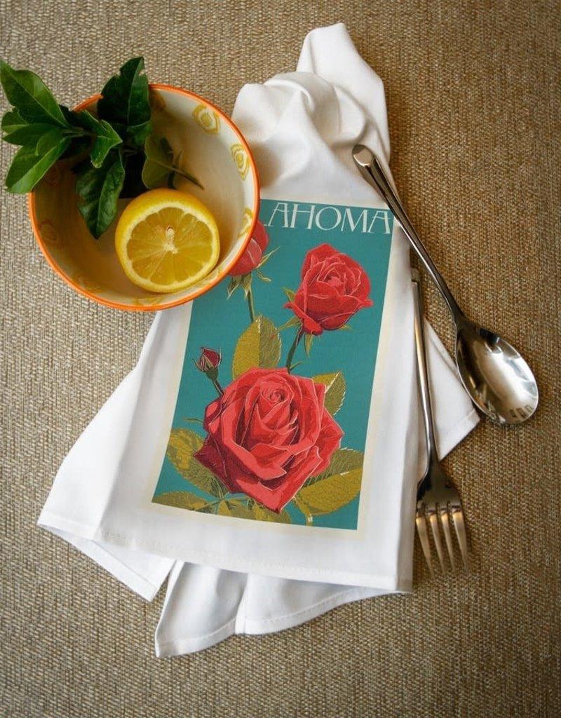lantern press oklahoma rose towel