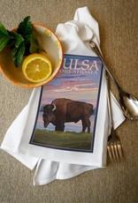 lantern press tulsa oklahoma buffalo towel