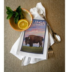 lantern press tulsa oklahoma buffalo towel