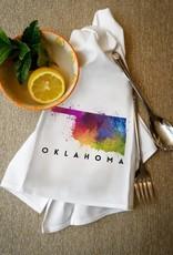lantern press oklahoma watercolor towel