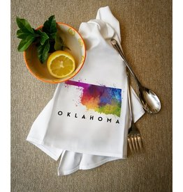 lantern press oklahoma watercolor towel