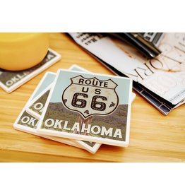 lantern press oklahoma route 66 coaster