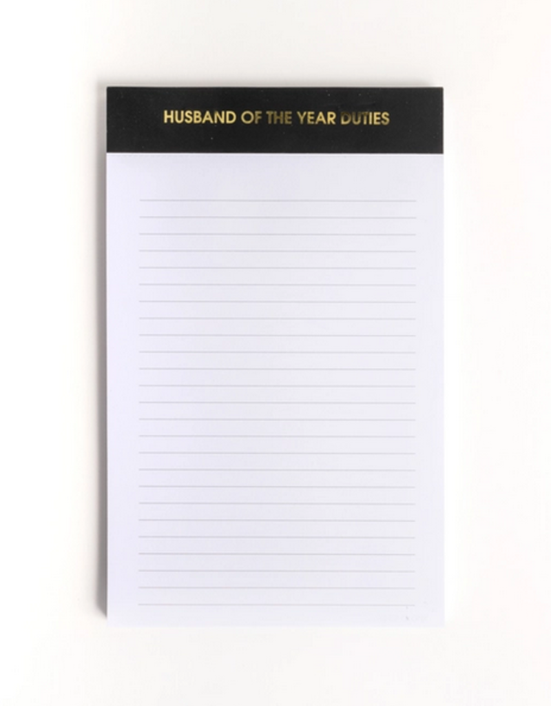 chez gagne husband of the year notepad
