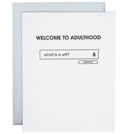 chez gagne welcome to adulthood card
