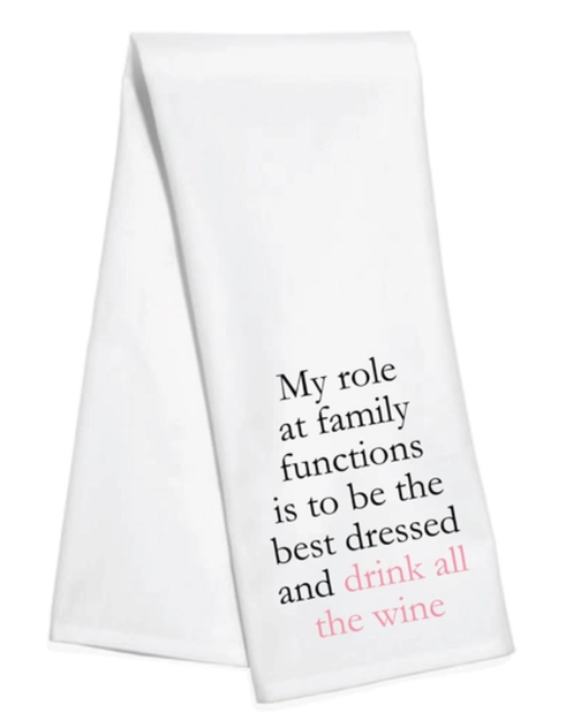 family functions towel