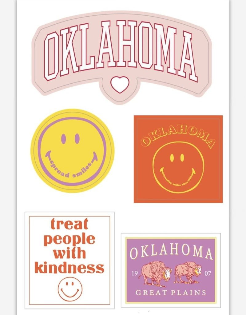 LivyLu oklahoma sticker sheet