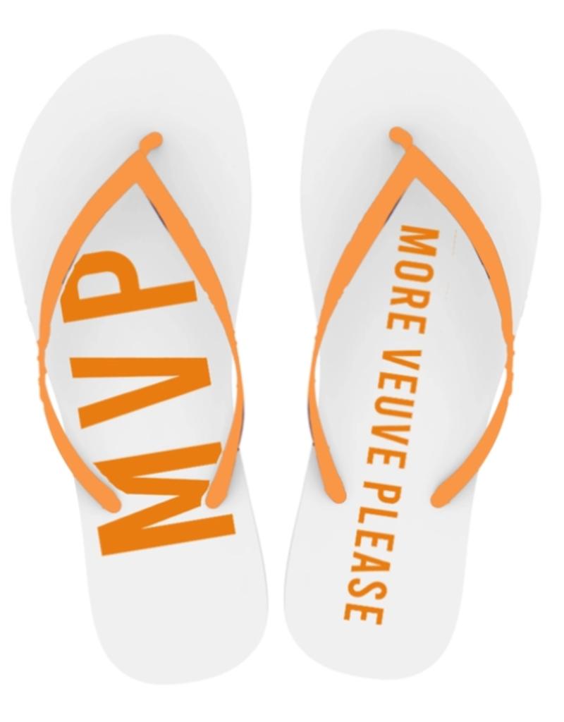 more veuve please flip flops