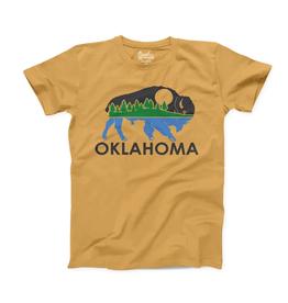 Opolis oklahoma bison landscape tee