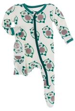 kickee pants natural ottercado footie with zipper