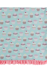 kickee pants summer sky cupcakes ruffle toddler blanket