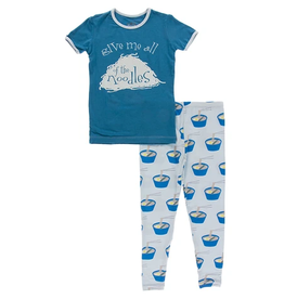 kickee pants illusion blue ramen short sleeve pajama set