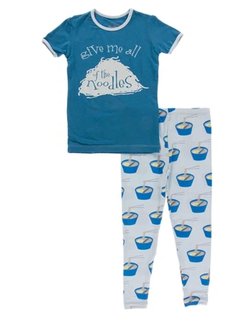 kickee pants illusion blue ramen short sleeve pajama set