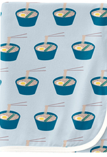 kickee pants illusion blue ramen swaddling blanket