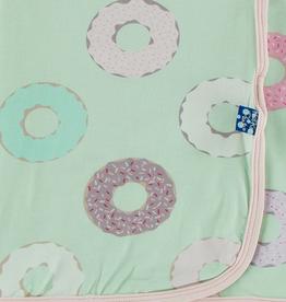 kickee pants pistachio donuts swaddling blanket