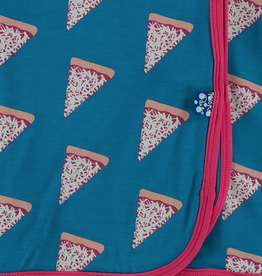 kickee pants seaport pizza slices swaddling blanket