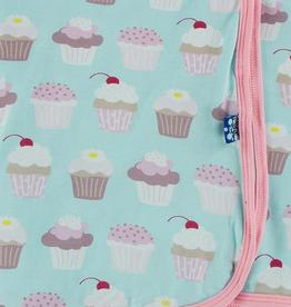 kickee pants summer sky cupcakes swaddling blanket