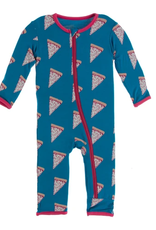 kickee pants seaport pizza slices coverall with zipper