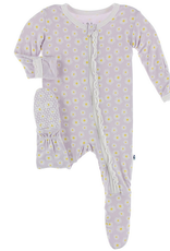 kickee pants thistle chamomile muffin ruffle footie with zipper