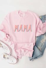 bubble letter mama sweatshirt