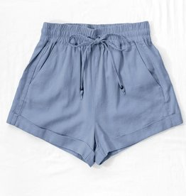 linen waist tie short