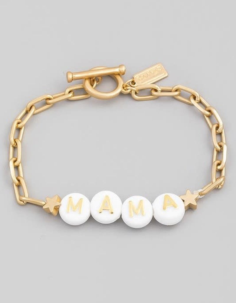 mama chain link bracelet - gold