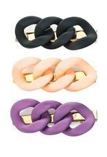 chain link hair clip set