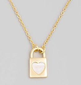 heart padlock necklace