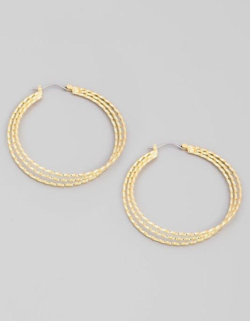 triple strand hoops