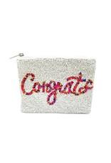 congrats beaded coin pouch