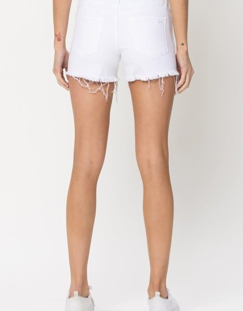 optic mid rise distressed short LC