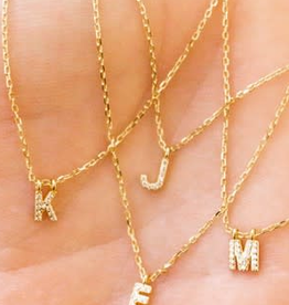 delicate modern initial necklace