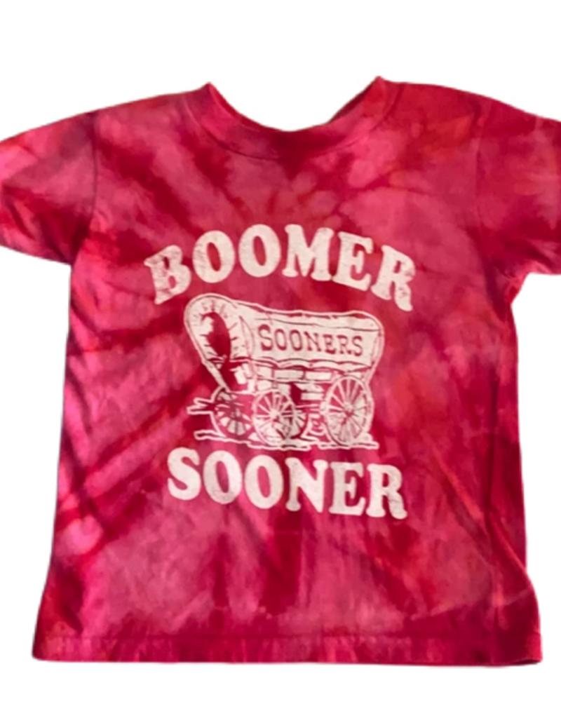 Opolis kids boomer sooner schooner tie dye tee
