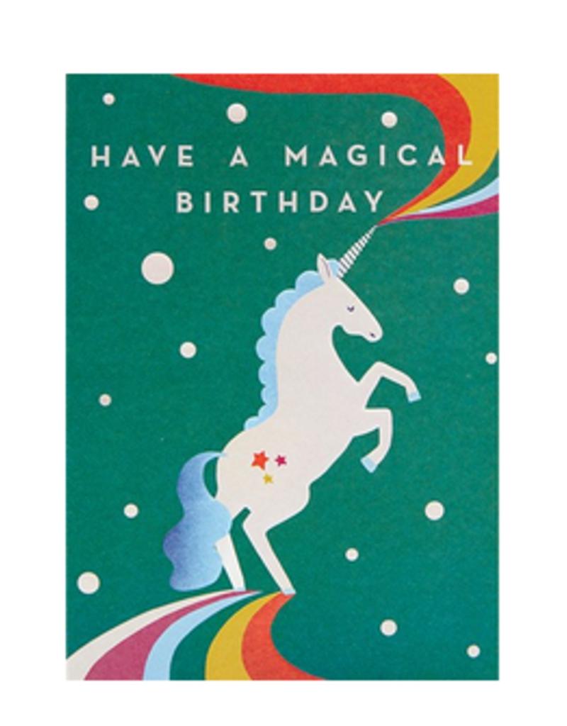 Calypso cards magical unicorn birthday card
