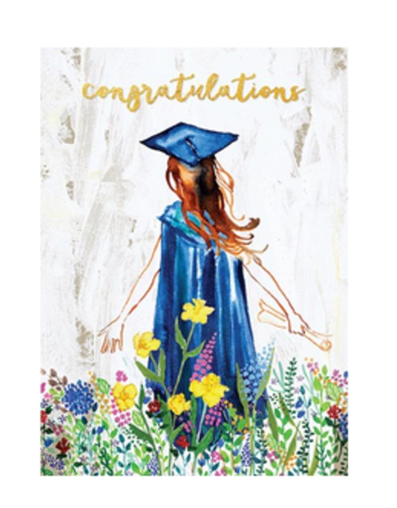 Calypso cards floral graduate card