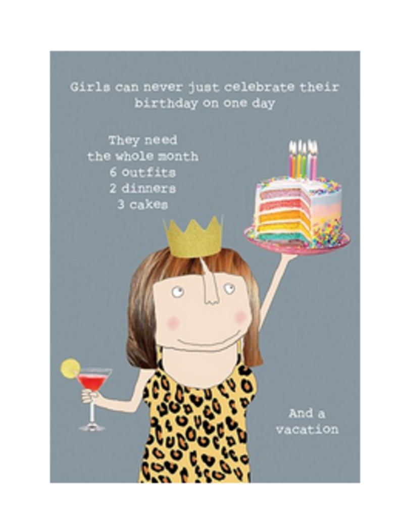 Calypso cards girls birthdays card