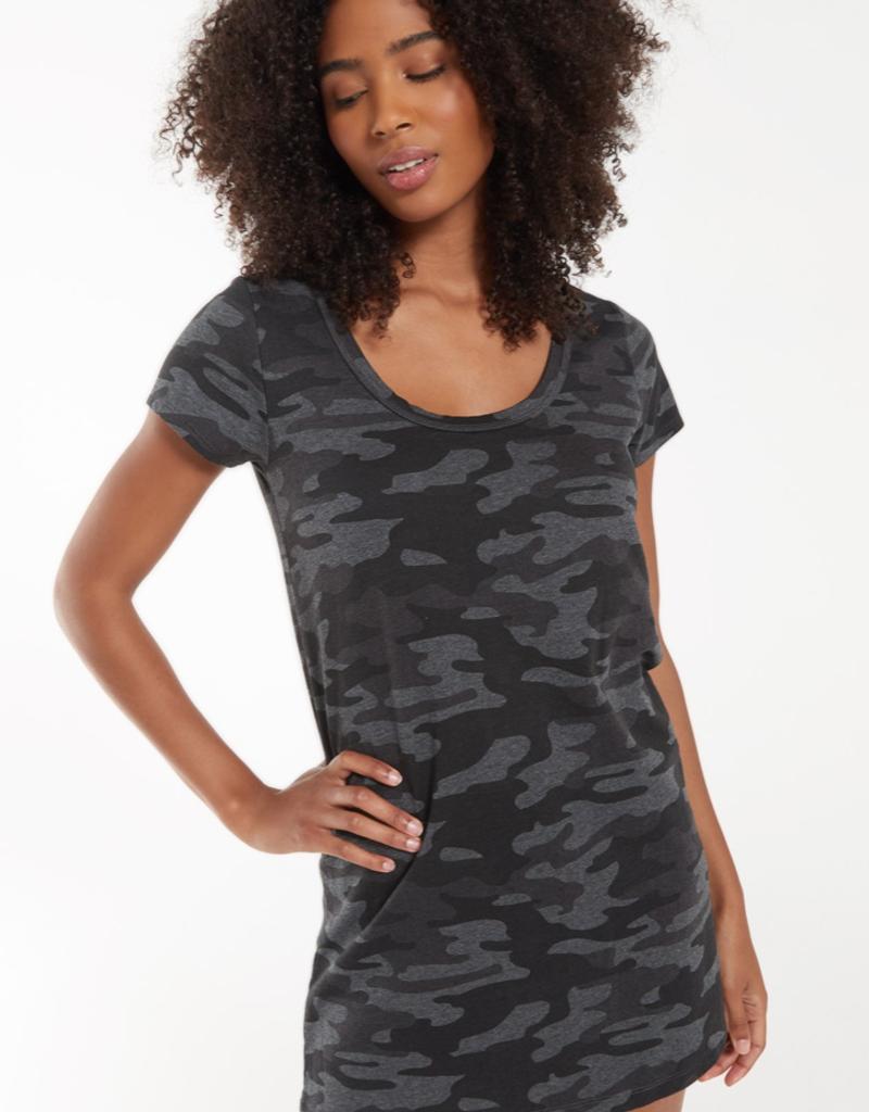 z supply payton camo t shirt dress