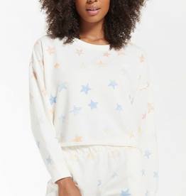 z supply lia rainbow star sweatshirt