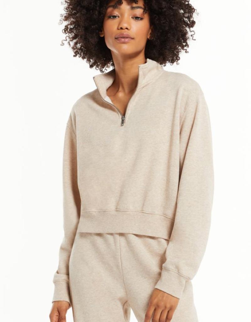 z supply heather half zip sweatshirt