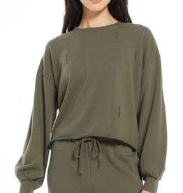 z supply allie distressed sweatshirt
