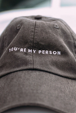 friday + saturday my person hat