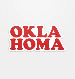 oklahoma throwback sticker