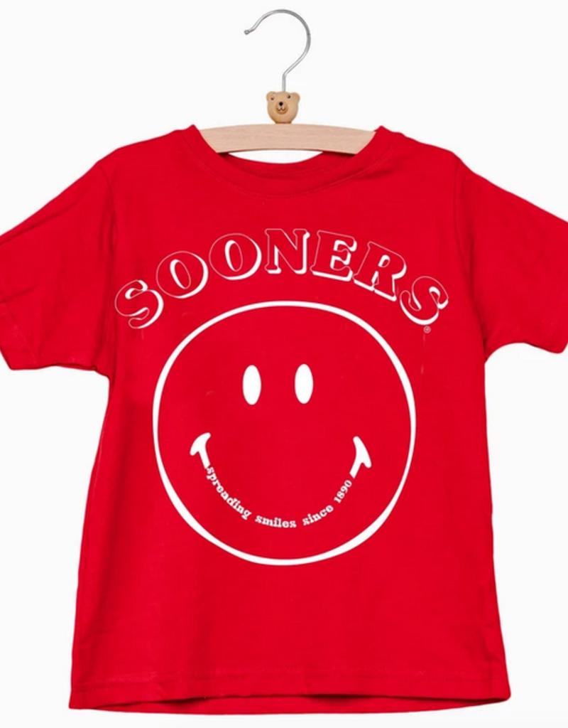 LivyLu kids sooners spread smiles tee